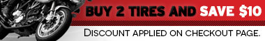 Save $10 when you purchase two or more tires